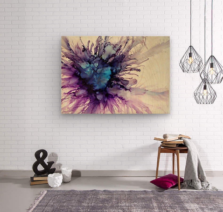 Purple Majesty  Wood print