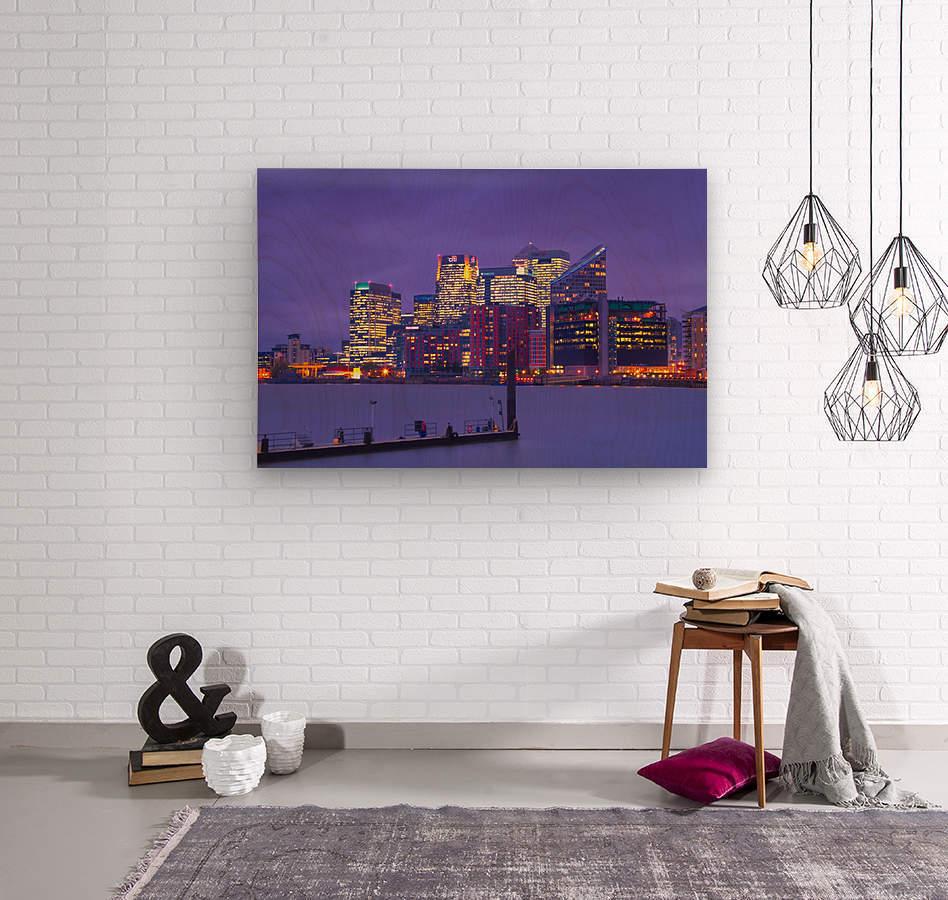 LON 007 Canary Wharf   Wood print