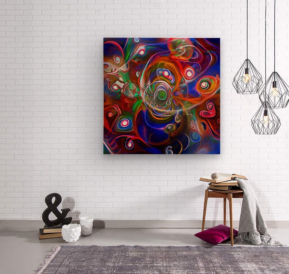 Vortex of Colors  Wood print
