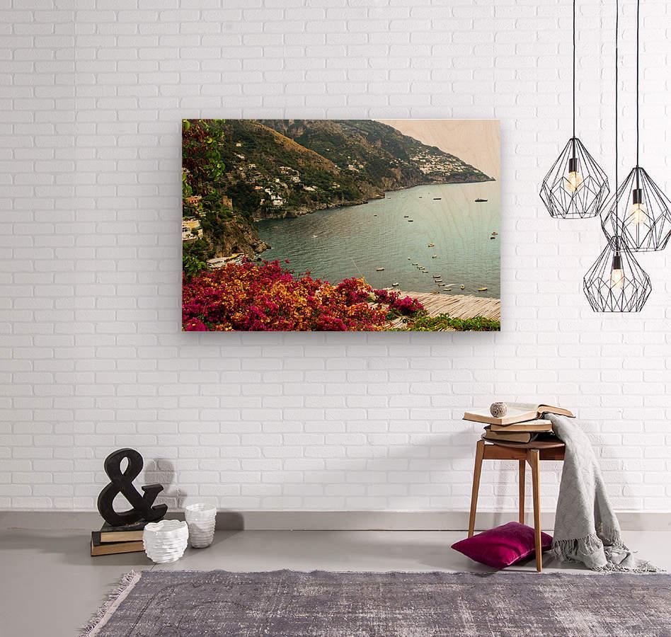 Amalfi Coast landscape   Wood print