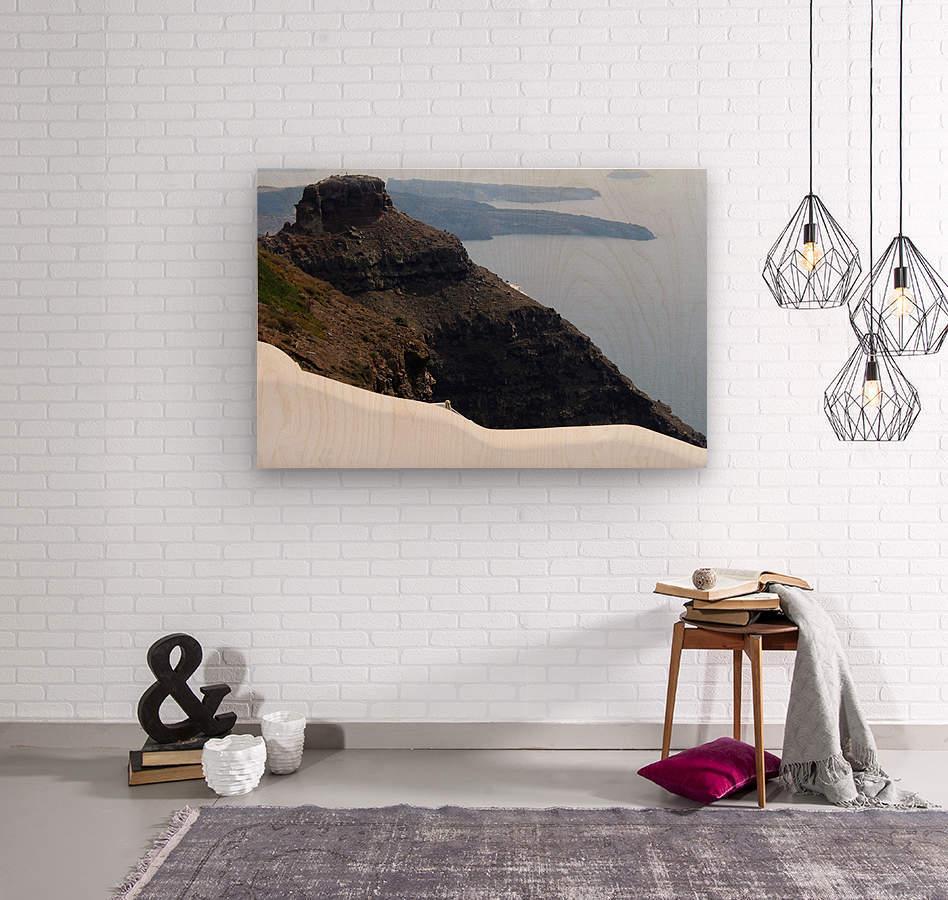 Skaros Rock - Santorini  Wood print