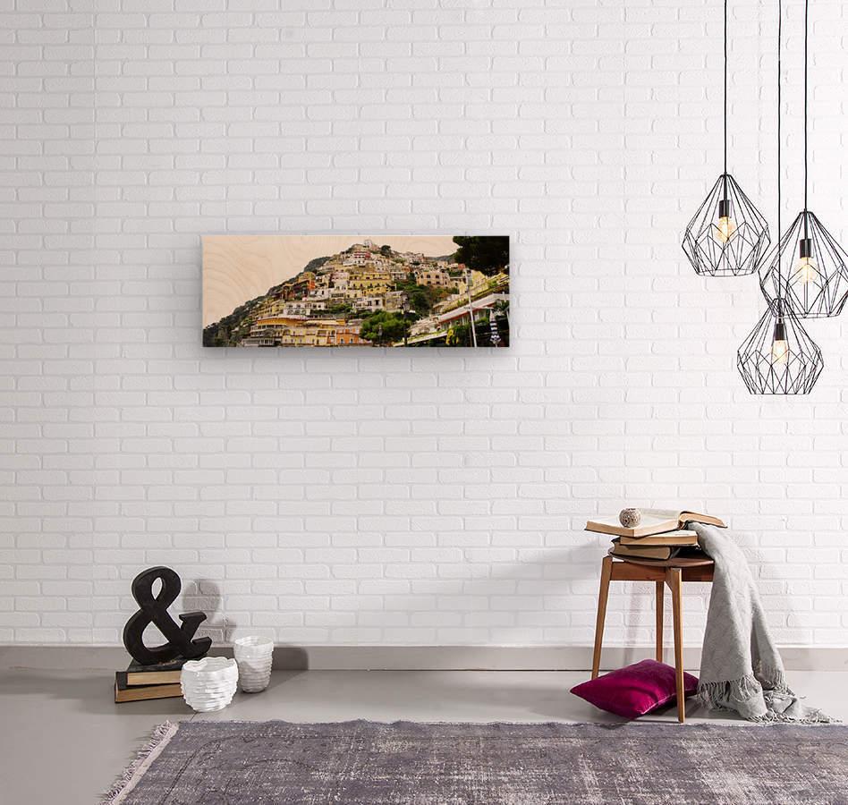 Italy Landscape - Positano  Wood print