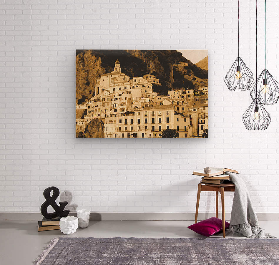 Landscape - Amalfi Village - Italy  Wood print