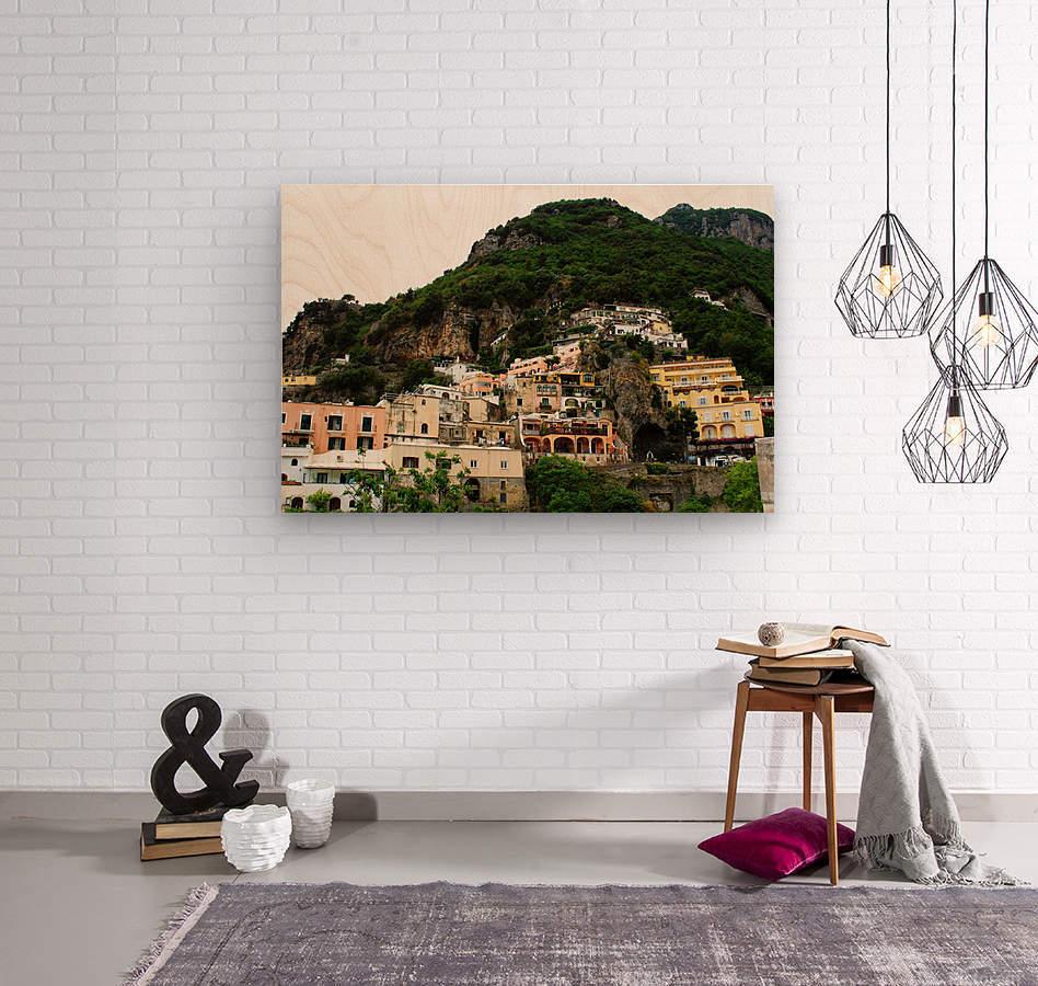 Landscape - Beautiful Village - Italy  Wood print