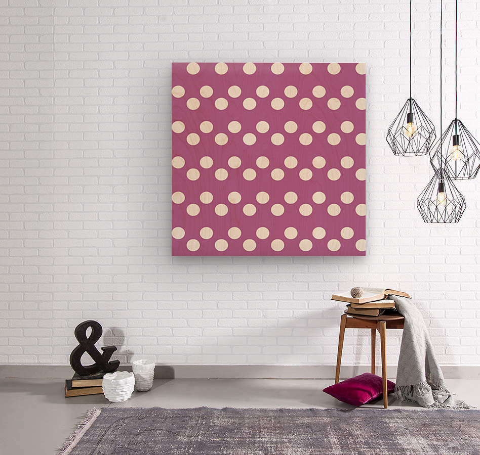 Bodacious Polka Dots  Wood print