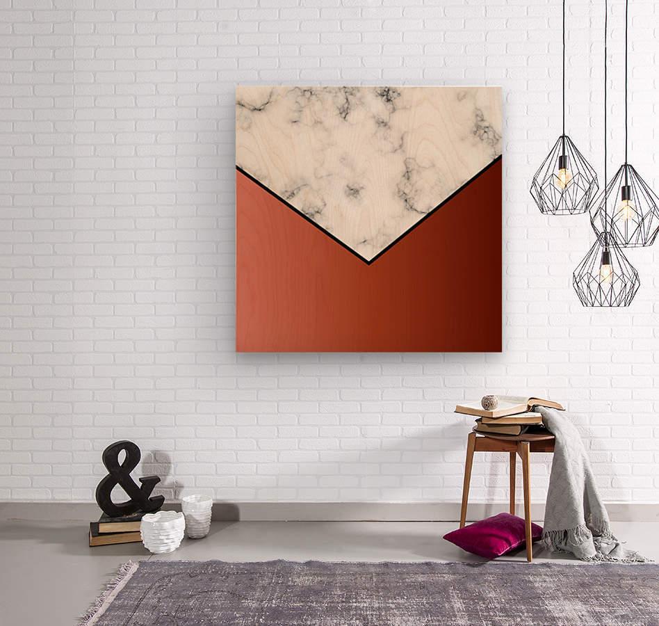 ABSTRACT BRICK MODERN MARBLE  Wood print
