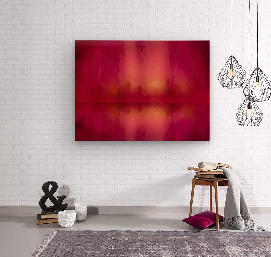 Red Sky at Night  Wood print