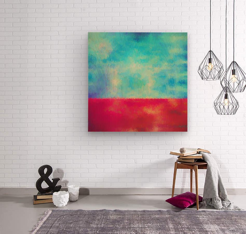Red Horizon  Wood print