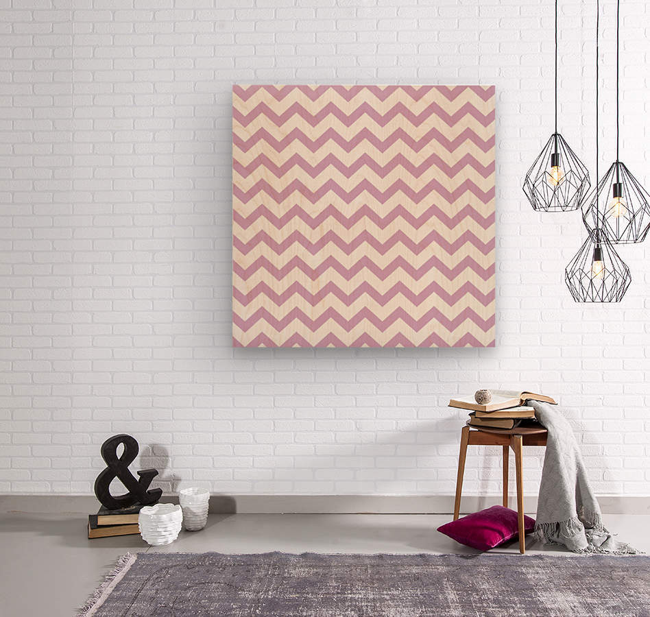 ORCHID CHEVRON  Wood print