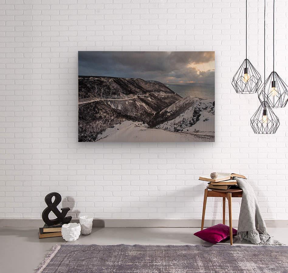 Snowy Skyline  Wood print