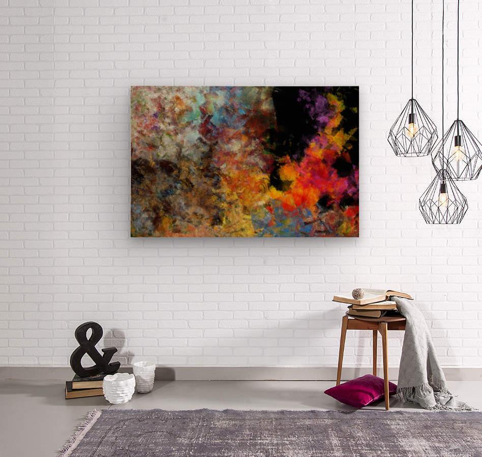 Flame  Wood print