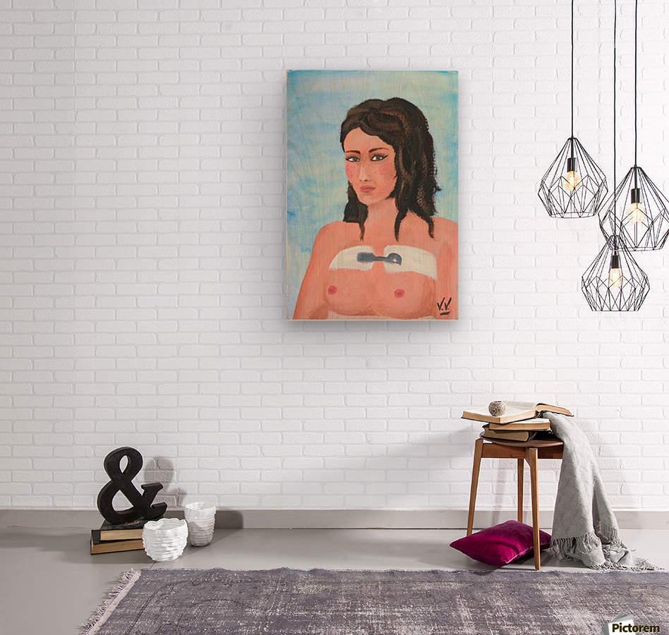 auto portrait  Wood print