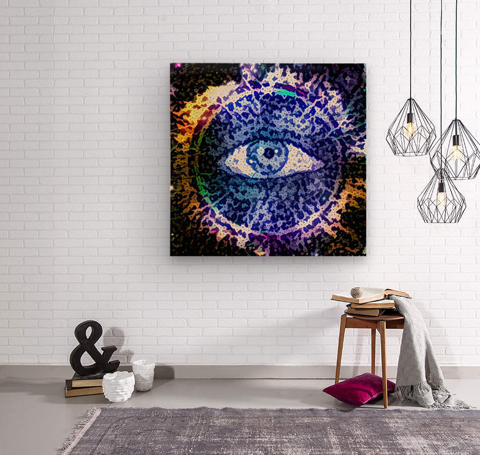 Beautiful Eye Design  Wood print