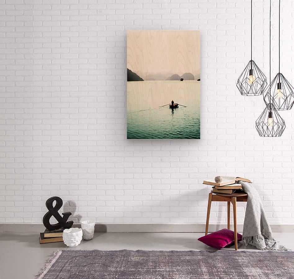 Ha Long Bay Fishing  Wood print