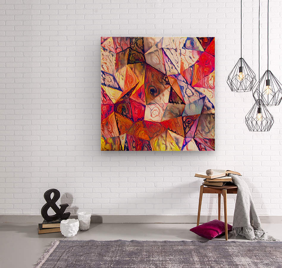 Modern Digital Abstract Painting  Wood print