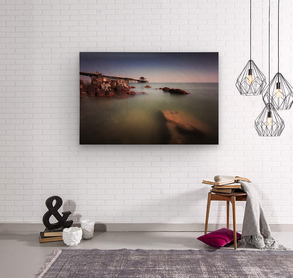 Mumbles pier Swansea  Wood print