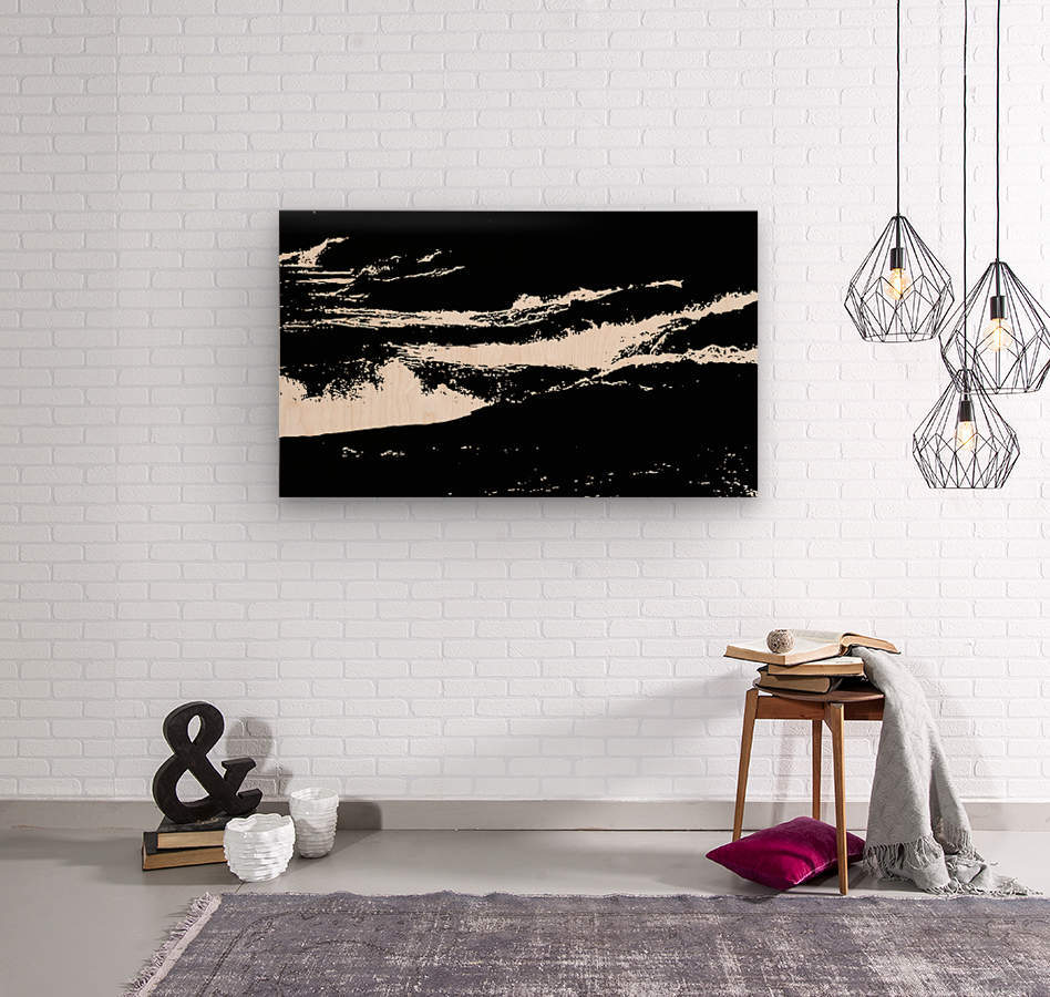 RECOLLET FALLS 5 -  Black & White High Contrast  Wood print