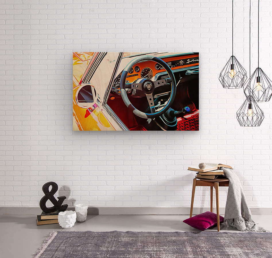 Lancia Fulvia Through The Window  Wood print