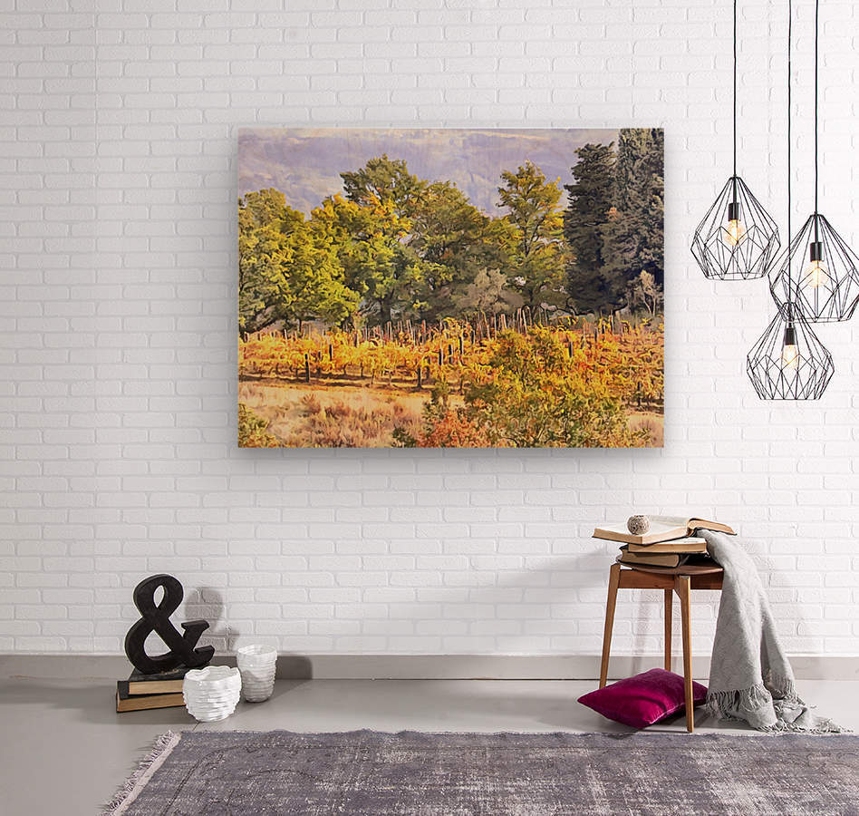 Tuscan Countryside in Autumn  Wood print