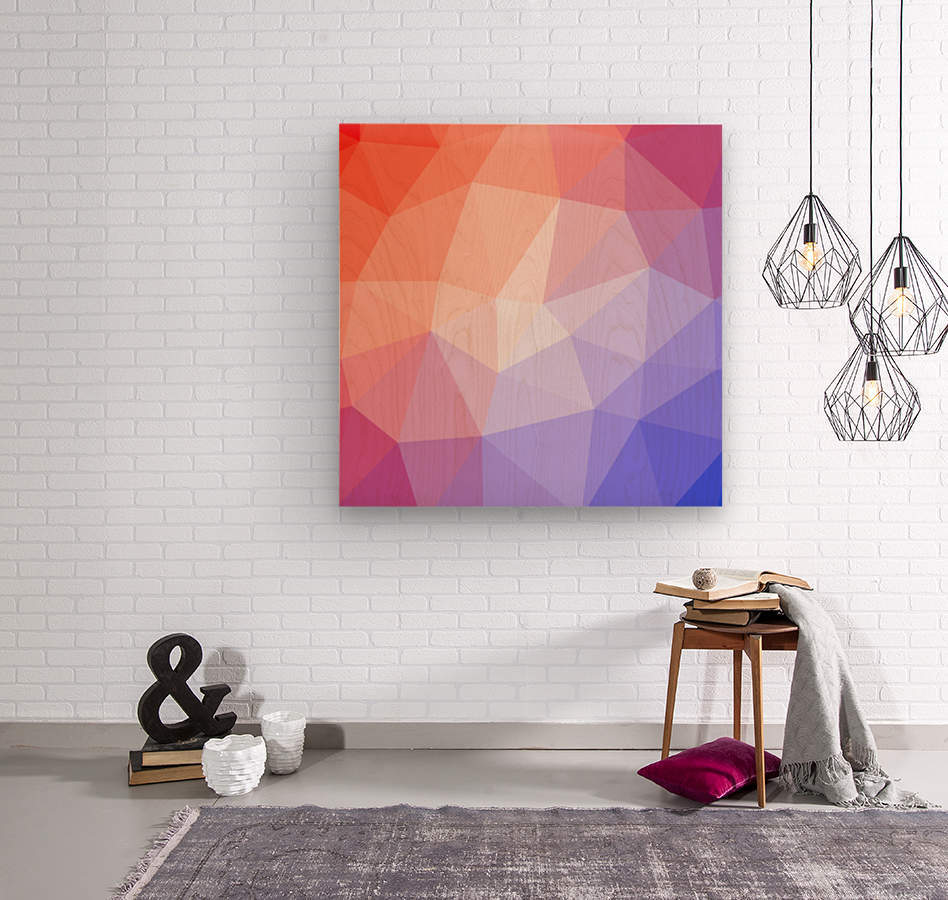 Abstract art patterns low poly polygon 3D backgrounds, textures, and vectors (9)  Wood print