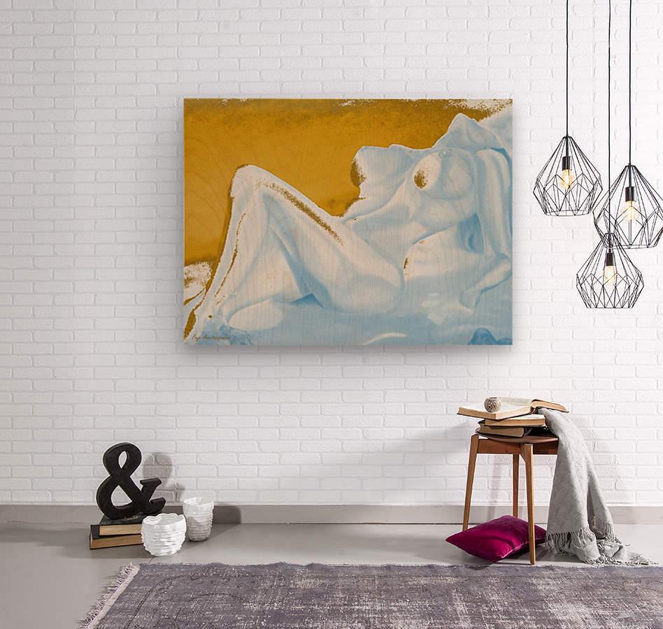 Ecstasy In Gold And Ice  Wood print