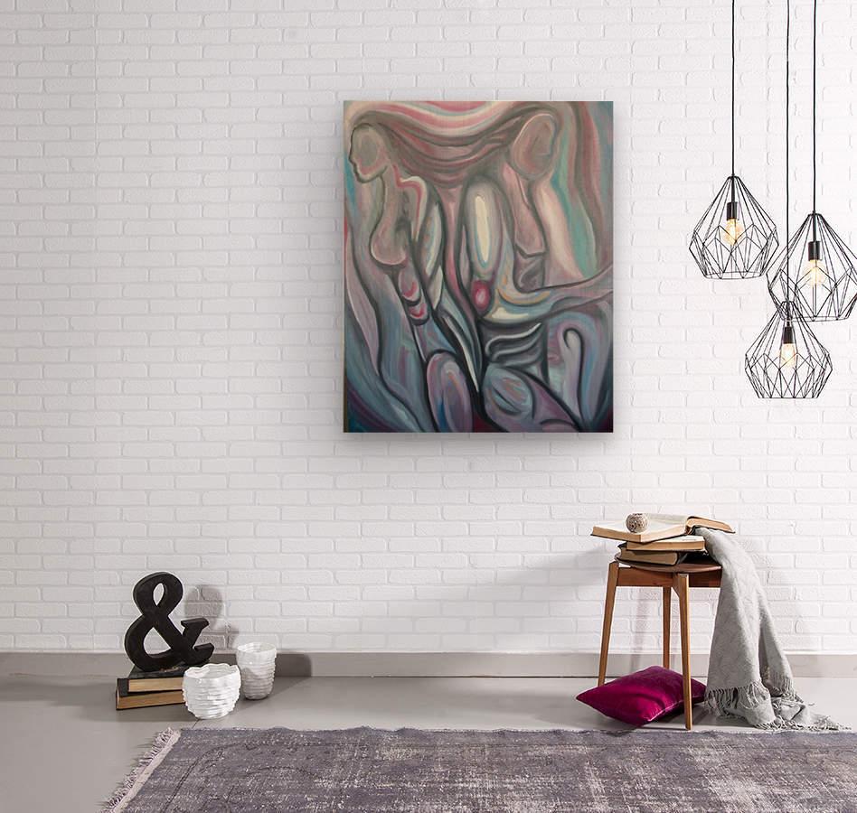 Soul Mates  Wood print
