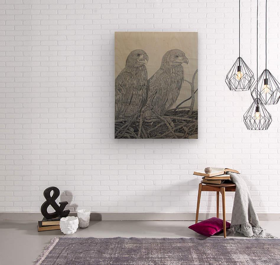 Eagles  Wood print