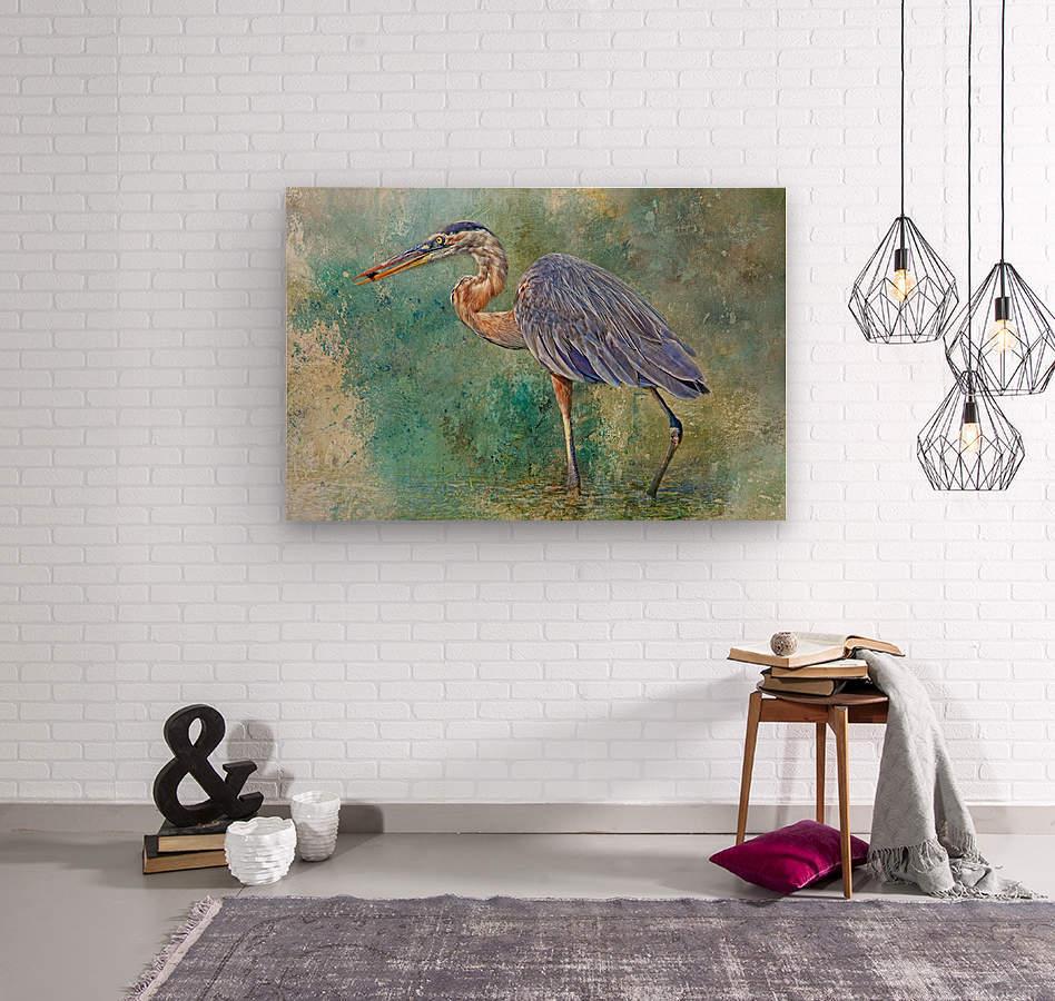 Fishing With Big Blue  Wood print