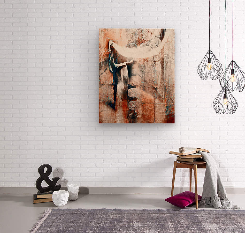 Dancer in the forest  Wood print
