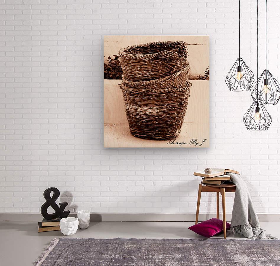 Grape Baskets  Wood print
