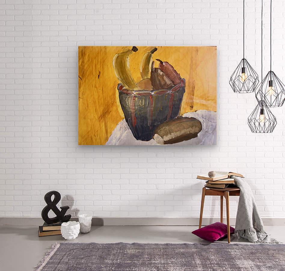 Bananas  Wood print