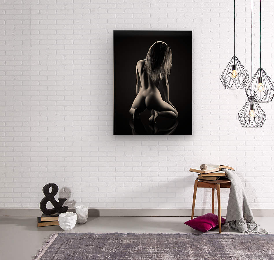 Nude woman bodyscape 32  Wood print