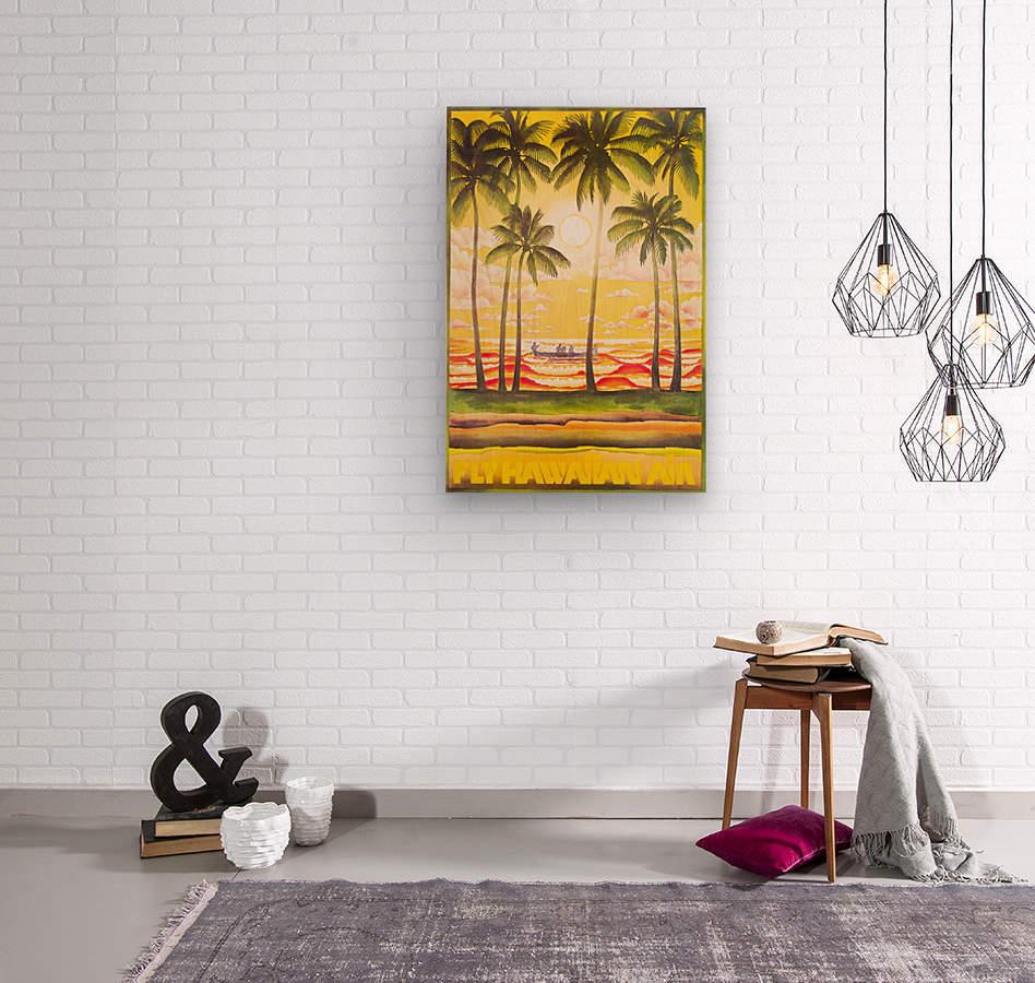 HAWAII TRAVEL POSTER  Wood print