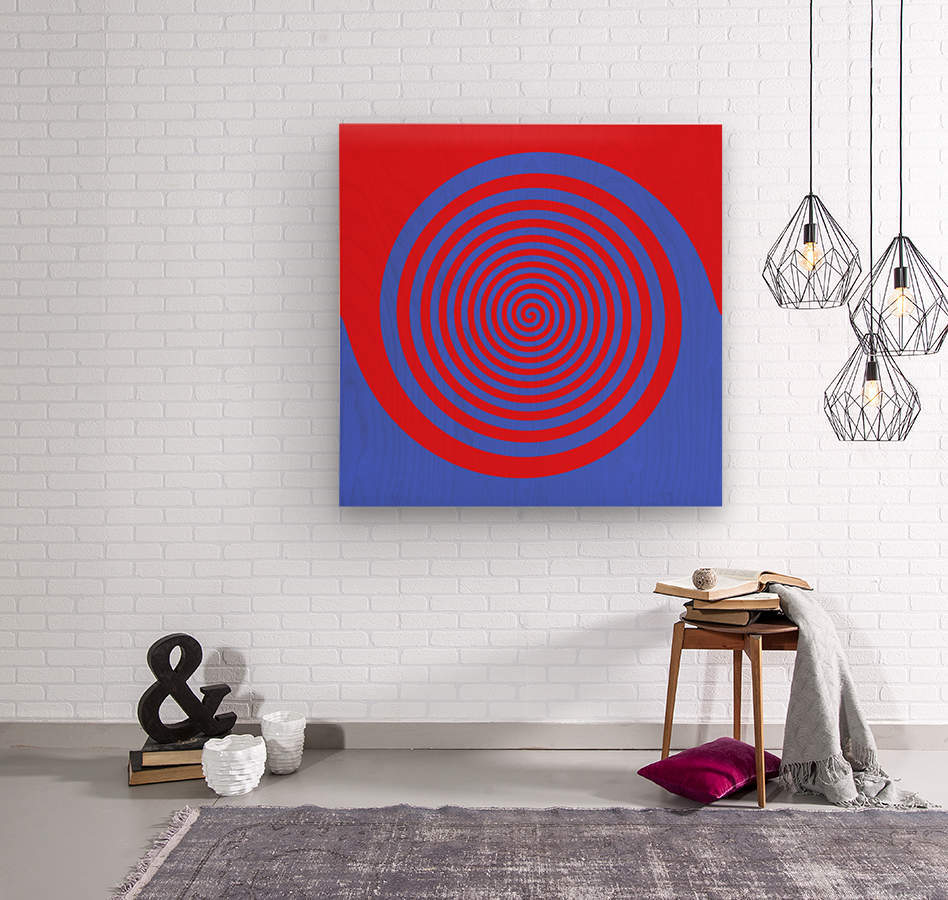 This is a beautiful design with great color, shape, line, texture, space and value.  (21)  Wood print