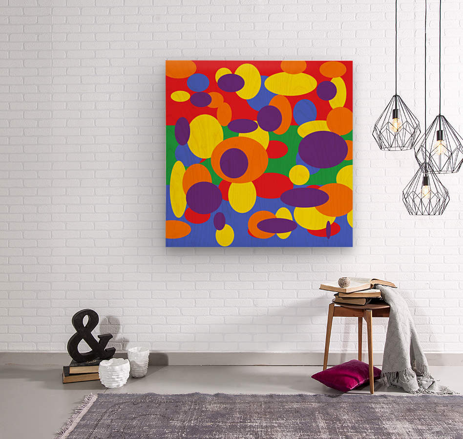 This is a beautiful design with great color, shape, line, texture, space and value.  (11)  Wood print