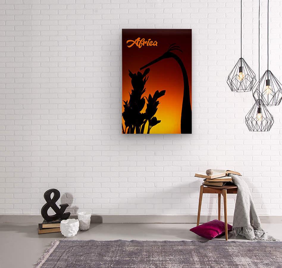 Africa sunrise  Wood print