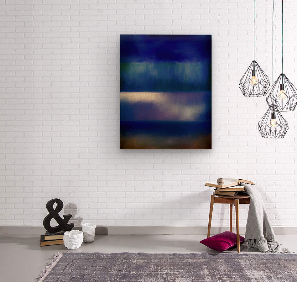 Color of the Blues  Wood print