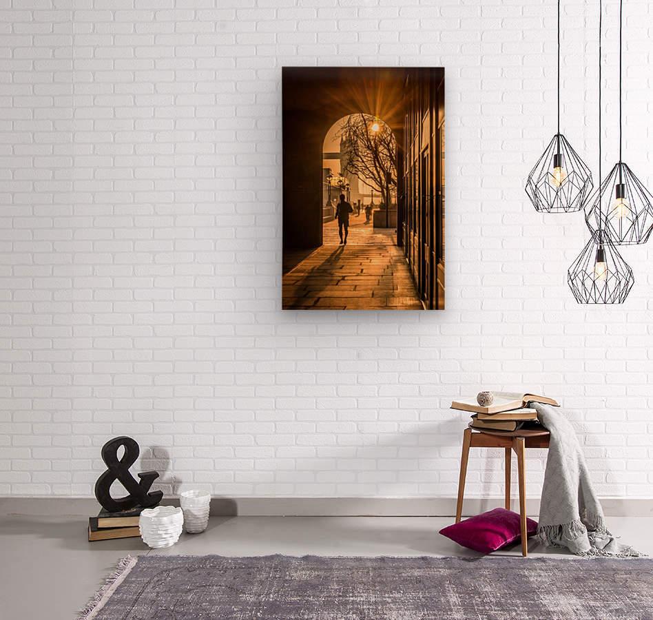 Silhouette  Tower Bridge London  Impression sur bois