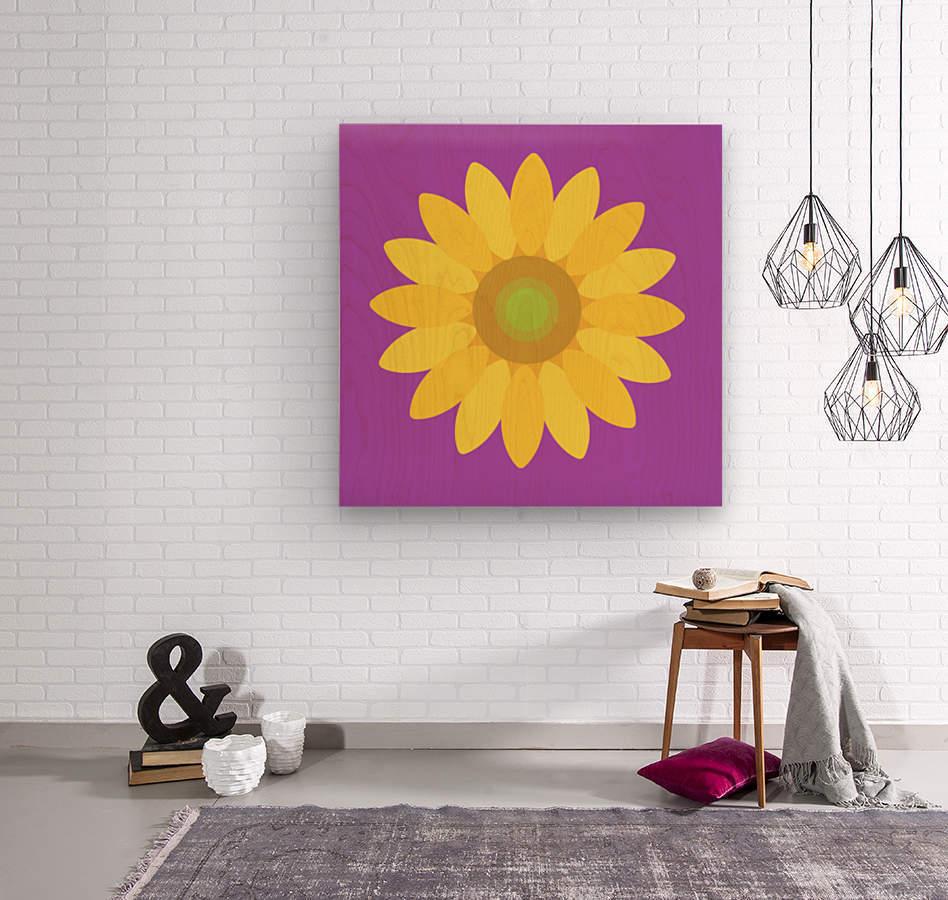 Sunflower (11)  Wood print