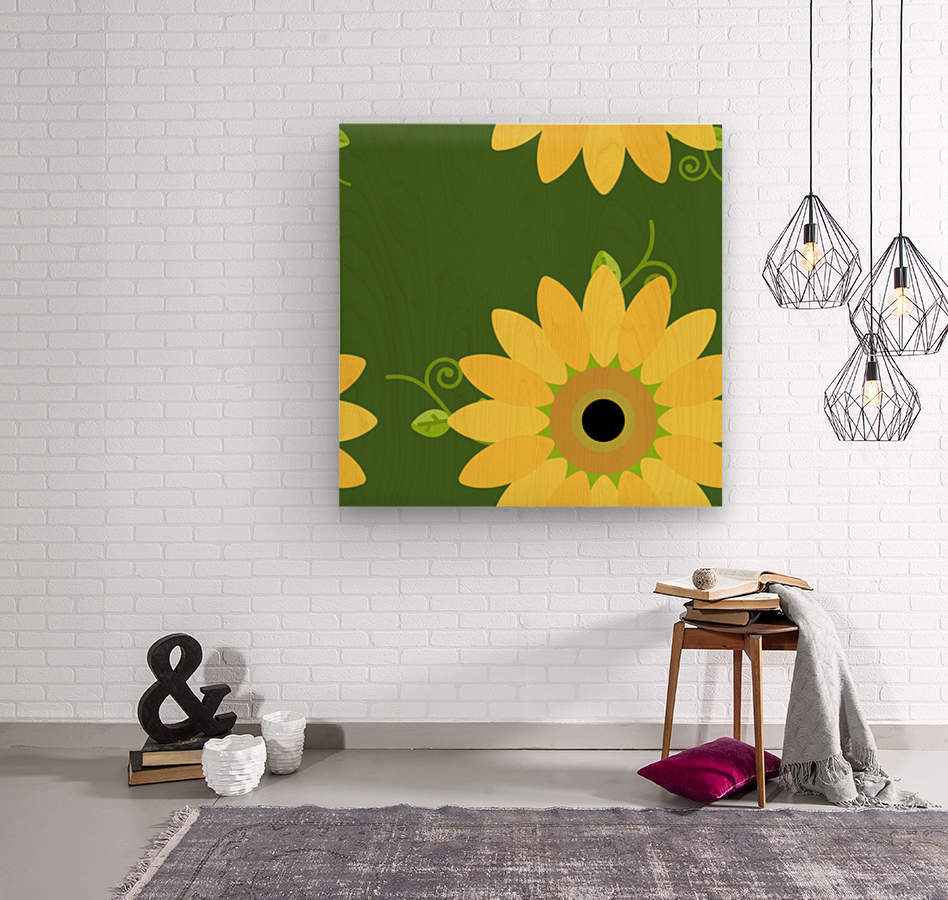 Sunflower (59)_1559876653.1233  Wood print