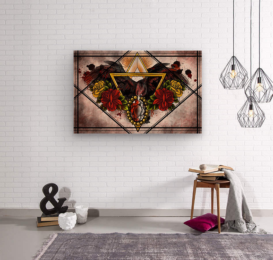 Wings of Gold   Wood print