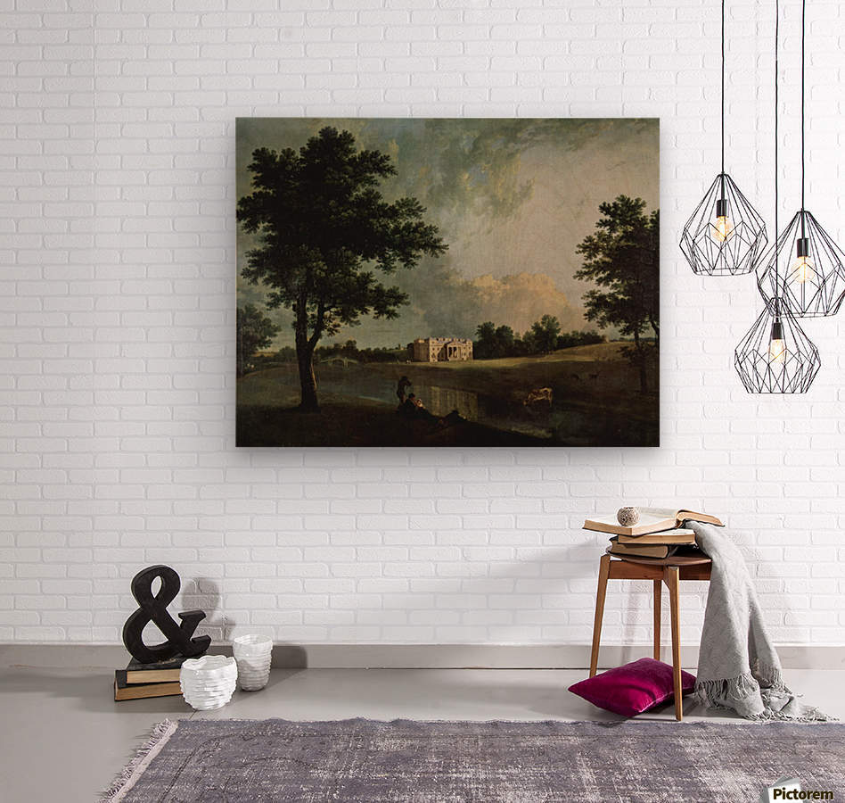 Castle by the river  Wood print