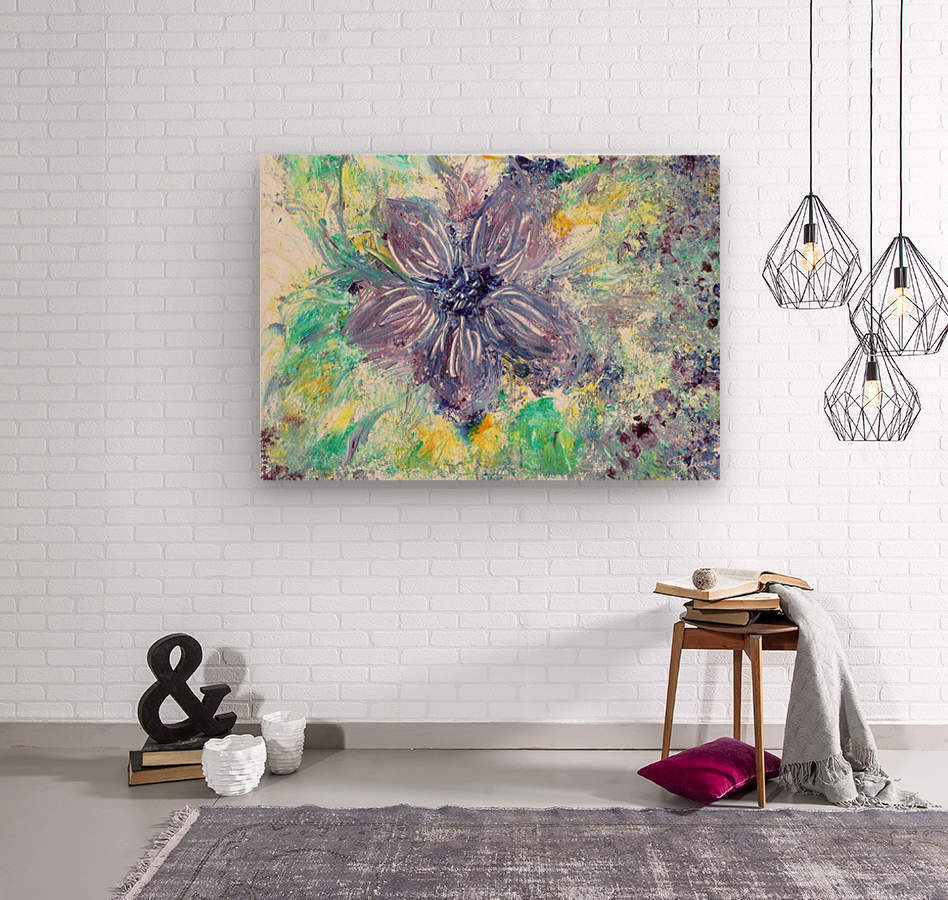Abstract flower  Wood print