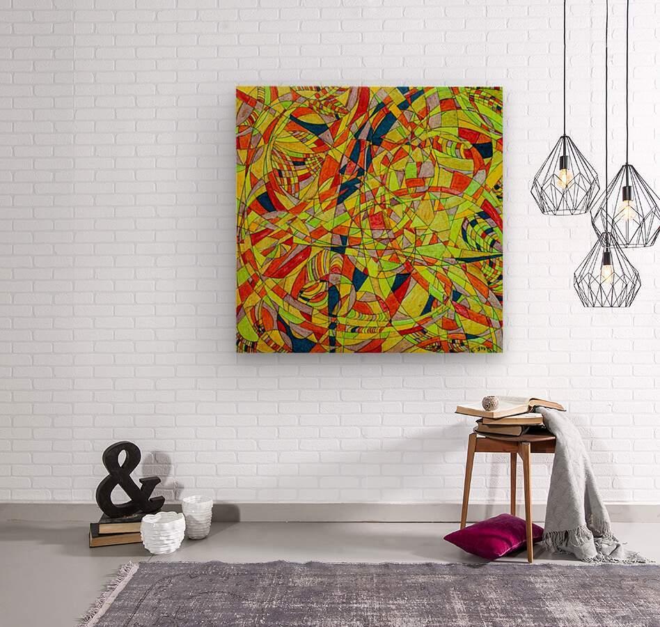 ABSTRACT SHAPES 10  Wood print