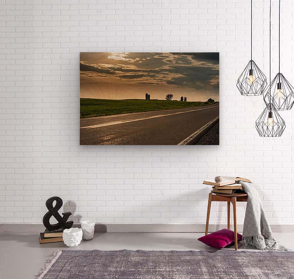 A twilight on the road  Impression sur bois