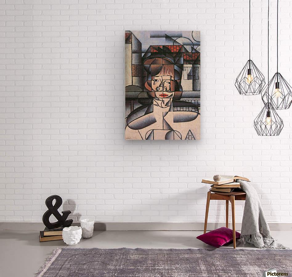 Portrait of Madame Germaine Raynal -1- by Juan Gris  Wood print