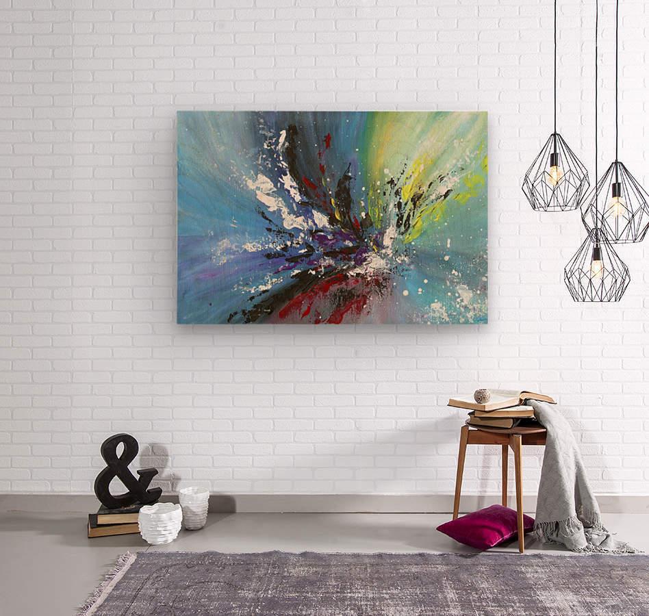 Abstract 165  Wood print