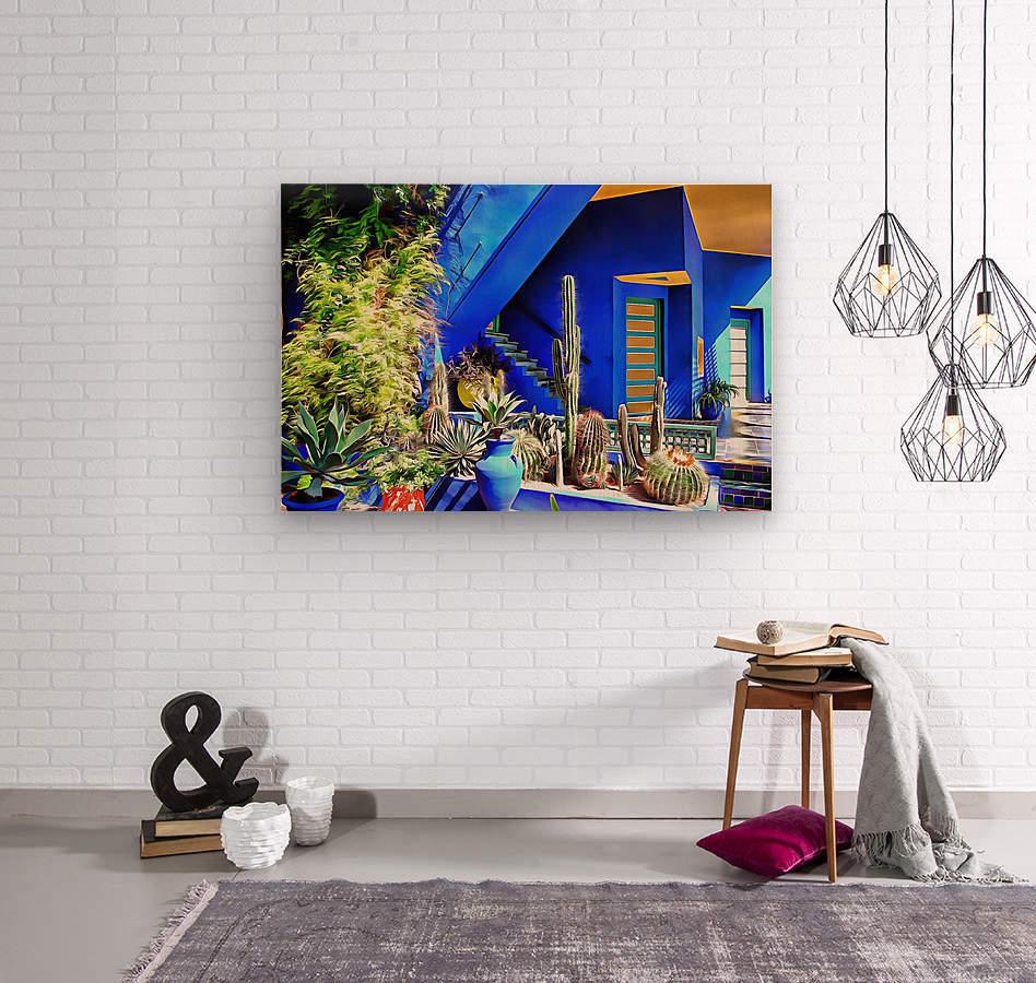 Cubist Villa Jardin Majorelle Marrakech  Wood print