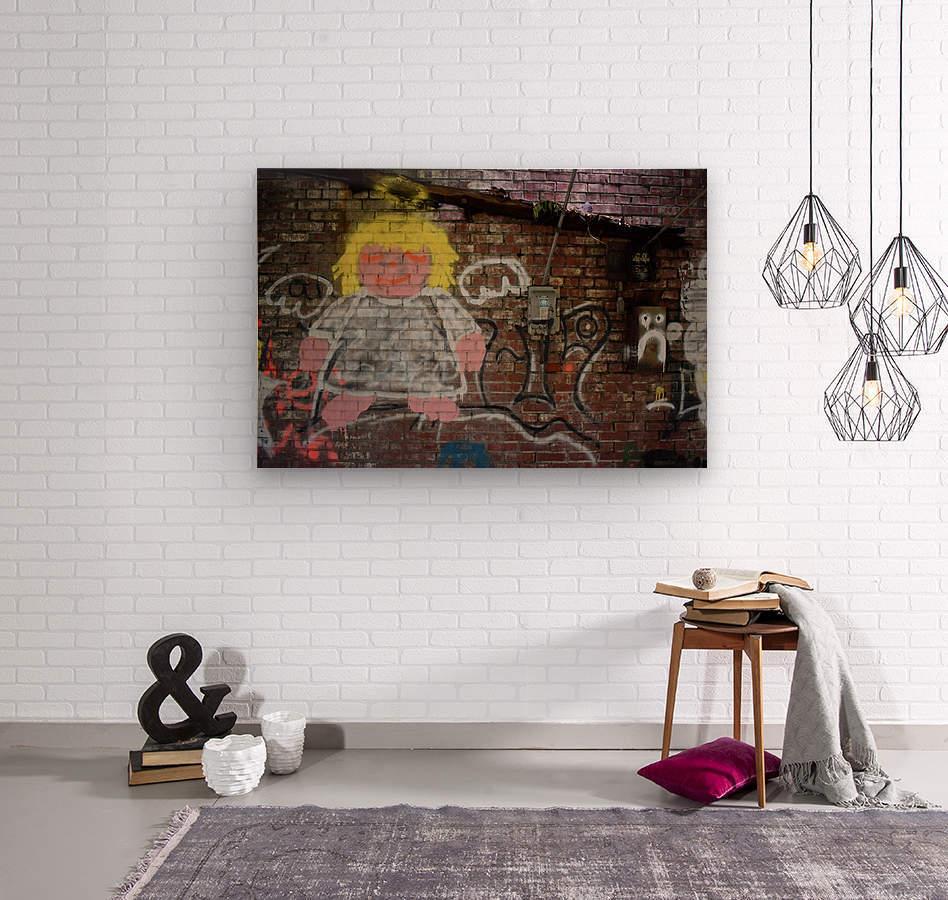 Angel in Krylon  Wood print