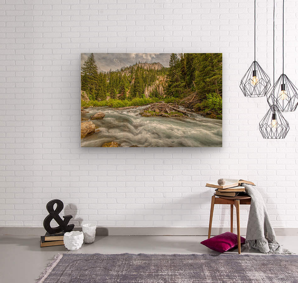 Periodic Spring Flowing into Swift Creek  Wood print